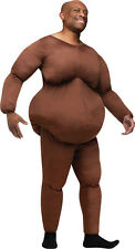 Fat Suit Dark Skin Adult Costume Funny Comical Funworld Brown Body Halloween