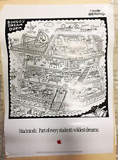 RARE Vintage Apple Macintosh Poster Bongo's Dream Dorm - Matt Groening Life Hell