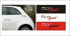 FIAT 500 SPORT LOGO  STICKERS ABARTH  X2 Pick Colour