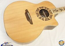 Luna Oracle Zen Acoustic-Electric Guitar w/ Gig Bag Barely Used Near-Mint! #7708