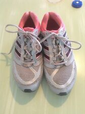 Very Cute Gray And Hot Pink Running Shoes From Adidas Womens Size 9 1/2 Medium