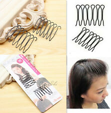 O L AC 4PCS Women Hair Styling Clip Stick Iron Bun Maker Braid Tool Hair Access