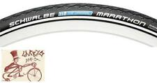 "SCHWABLE MARATHON REFLECTIVE SIDEWALL 27"" X 1-1/4"" BLACK WIRE BEAD BICYCLE TIRE"