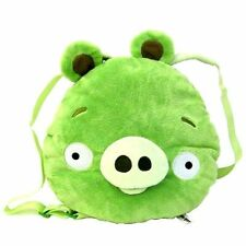 "Backpack Angry Birds Plush Green Pig 15"" x 13.5"" x 4"" NWT"