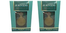 Je Reviens by Worth 7ml EDP Mini Miniature Perfume for Women x2