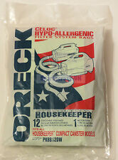 GENUINE ORECK Canister Hand Held Vacuum BAGS x 12 + FREE Air Fresheners