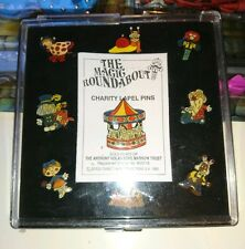 the magic roundabout pin badge set