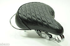 Classic Retro Vintage Replica Bicycle Bike Leather Saddle Seat Black