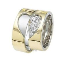 MATCHING 10K TWO TONE GOLD HIS&HERS WEDDING BANDS RING MENS WOMENS SETS DIAMONDS