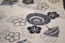 Japanese Cotton Fabric White with Umbrellas and Flowers 1058
