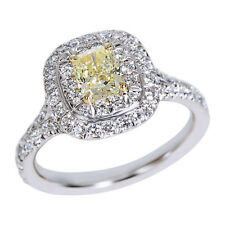 Tiffany & Co. Fancy Yellow Cushion Diamond Engagement Ring in Platinum 0.82 ctw