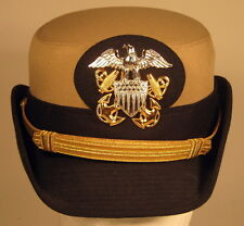 USN US Navy Naval Female Officer Khaki Dress Hat Cap