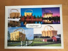 "Longaberger Dresden Ohio ""Home Office"" Oversized Postcard / Fact Card - 2004"