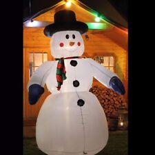 Weihnachtsdeko Aussen Schneemann.Schneemann 240 Cm Weihnachtsfigur Aufblasbar Beleuchtet Weihnachtsdeko Außen