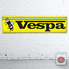 1700 x 430mm VESPA WASP Banner  –  heavy duty workshop, garage, mancave scooter
