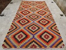 6 X 11 Ft. Very Fine Large Turkish Kilim, Oriental Area Rug Floor Carpet Kelim