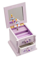 Girls Small Lilac Beautiful Ballet Dance Wooden Music Jewellery Box By Katz JB16