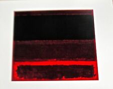Mark Rothko Four Darks In Red Unsigned Offset Lithograph 14x11
