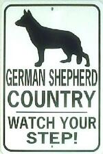 GERMAN SHEPHERD CO Watch Your Step!  12X18 Aluminum Sign  Won't rust or fade