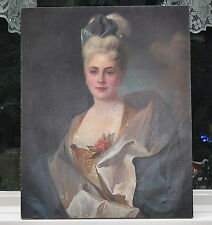 Lovely Large Oil Painting Portrait of Gorgeous Woman Fantastic Original Work