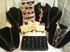 70+Pc.MIXED JEWLERY-LOT~RINGS/EARRINGS/GEMSTONE&CAB NECKLACES+GOLD$100K & MORE!