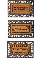 """""""IRON MAT"""" WELCOME MAT, RUBBER AND COIR OUTDOOR MAT"""