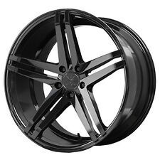 Staggered Verde Parallax Front:19x8.5,Rear:19x9.5 5x112 +45mm Black Wheels Rims