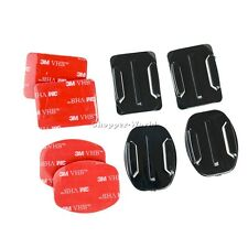 2pcs Curved + 2pcs Flat with 3M Adhesive Helmet Mount Kit for GOPRO SJCAM Xiaomi