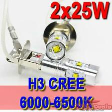 1 pair H3 White 25W 360° CREE Led Car Fog Driving Lamp light Super Bright