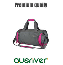 Premium New Women's Men's Gym Sports Travel Barrel Shoulder Bag Handbag Rosy