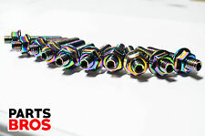 Neo Chrome Locking Extended Intake Exhaust Turbo Manifold Studs For Honda Acura