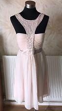 JANE NORMAN PALE PINK EMBELLISHED BABYDOLL DRESS SIZE 12