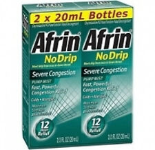 Afrin® No Drip Severe Congestion pump mist nasal spray 2/20ml twin pack 1.33 oz