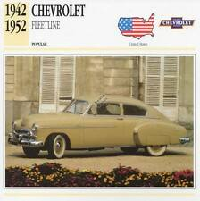 1942-1952 CHEVROLET FLEETLINE Classic Car Photograph / Information Maxi Card