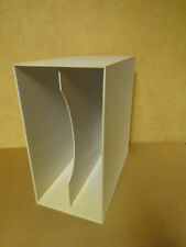 STACKABLE PVC LP-BOX FOR +- 50 LP'S IN WHITE COLOR