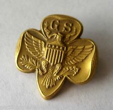 RARE 1/20 10K Gold Traditional GIRL SCOUT MEMBERSHIP PIN Eagle Leader GIFT