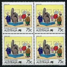1988 Living Together Visual Arts SG1132 Block of Four MUH Mint Stamps Australia