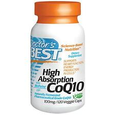 Co-Enzyme Q10 - 120 - 100mg Vcaps by Doctor's Best - High Absorption Co-Q10