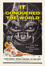 1950's Sci-Fi  * It Conquered The World * Roger Corman Movie Poster 1956