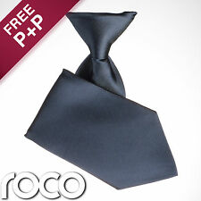 Boys Navy Elasticated Tie Wedding Prom Page Boys Communion Ties