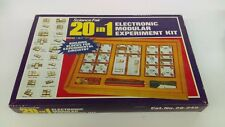 Vintage 1971 Science Fair 20 In 1 Electronic Modular Experiment Kit Radio Shack