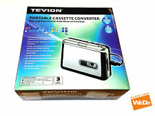 TEVION PORTÁTIL CINTA CASSETTE MP3 Convertidor Captue Adaptador Audio CD