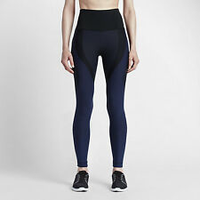 Nike Women's Sz Sm - ZONED SCULPT TRAINING TIGHTS - Black Navy 810965 010 Sml