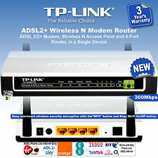TP-Link Wireless N ADSL2+ Modem Router 300Mbps 4-Port TD-W8961ND NEW UK Model