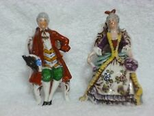 Set of 2 Colonial Lady & Gentleman Sitting in Chair Figurines #34777