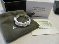 AVON STERLING SILVER 925 CABLE LINK RING Interlocking Pattern Size 7