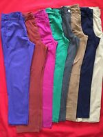 FAST P&P New Ladies Ex-M&S Chinos Pants Sizes 8 to 26 Mink/Navy/Pink/Green/Rust