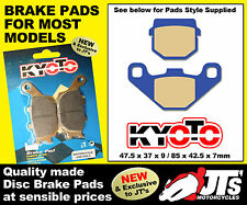 REAR SET OF DISC PADS BRAKE PADS TO SUIT TGB R 125 R125 X Bullet (08-09)