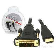 3M Gold Plated HDMI Male To DVI Male PC TV LCD Cable Lead For Monitor