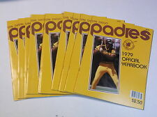 DEALER LOT OF 10 1979 SAN DIEGO PADRES BASEBALL YEARBOOK WINFIELD OZZIE SMITH